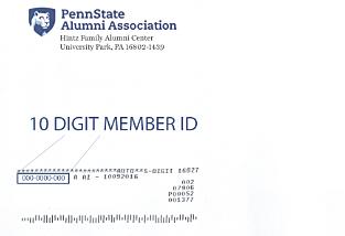 Image of 10 digit member ID